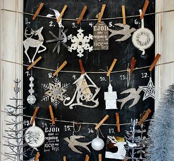 kalendarz adwentowy ręcznie robiony