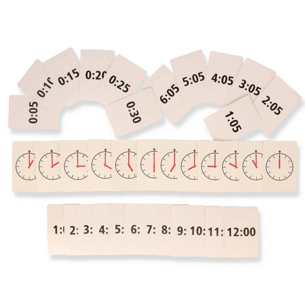 Nauka Odczytywania Czasu NaZegarze Karty Zabawy Matematyczne Dla Dzieci drAneta Czerska