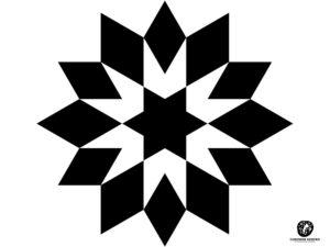 kontrastowe karty dowydruku gwiazda romby