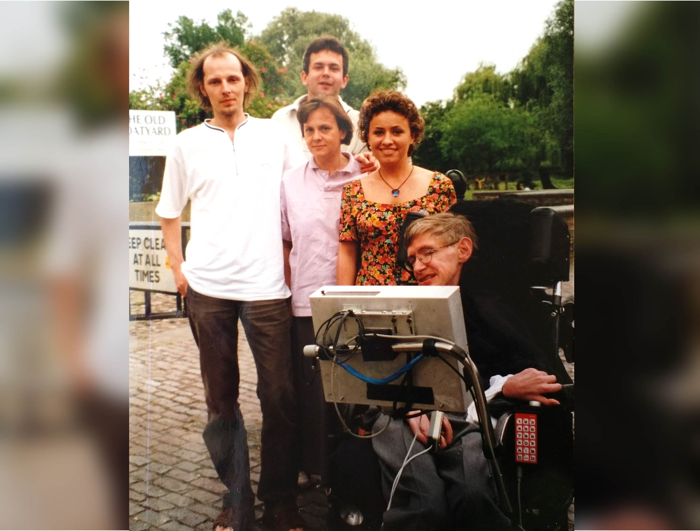 Aneta Czerska & Stephen Hawking w Cambridge