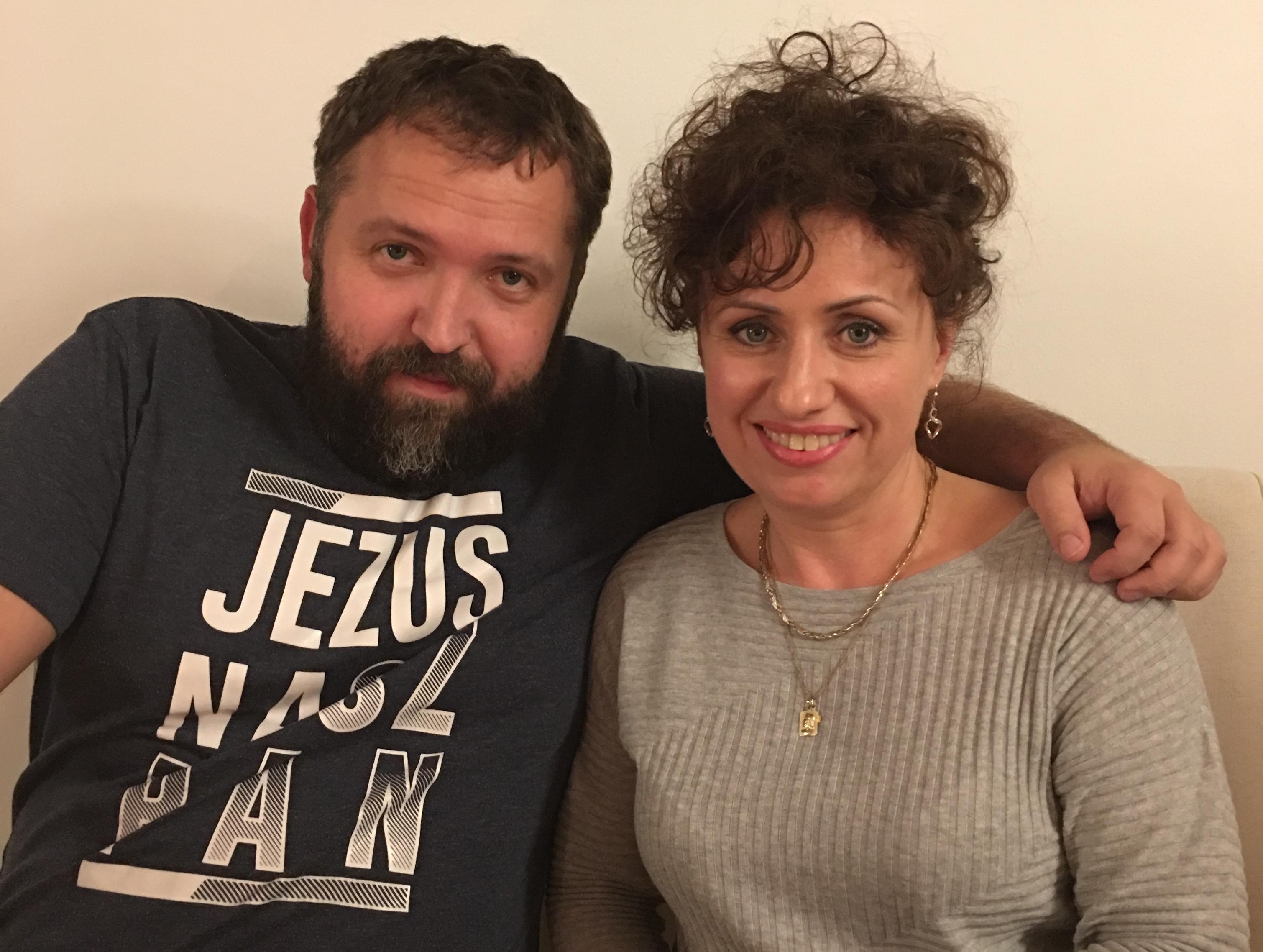 Dr Aneta Czerska z Witkiem Wilkiem, muzykiem, ewangelizatorem, Herning, Dania  18.12.2016