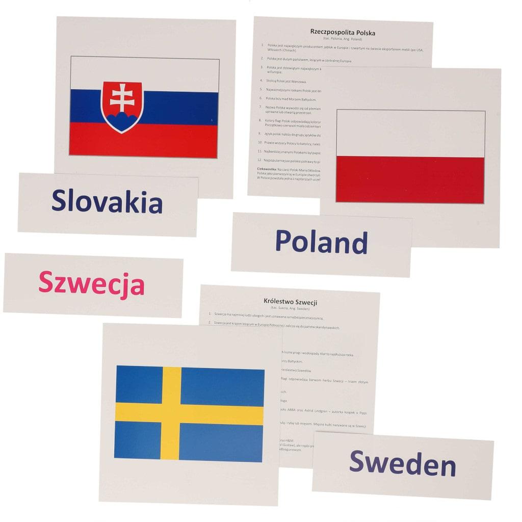 bity inteligencji Polska sąsiedzi flagi państwa europejskie metoda Domana drCzerska