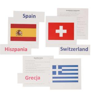 bity inteligencji kraje europejskie flagi karty do nauki czytania