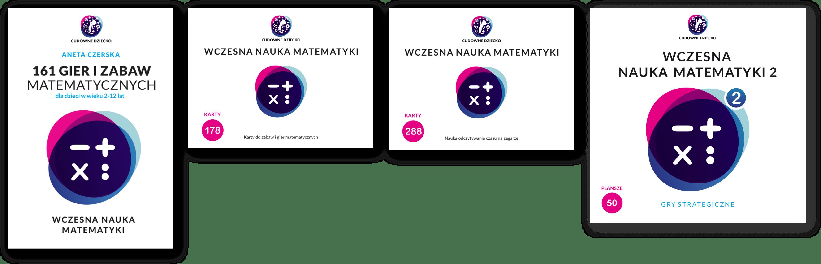 Pakiet 6 Matematyka Nowość Gry Zabawy Karty Matematyczne dla dzieci