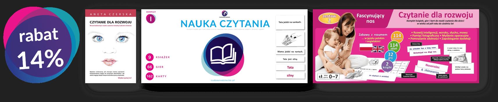 Zestawy donauki czytania ksiażki dosamodzielnego czytania dla dzieci