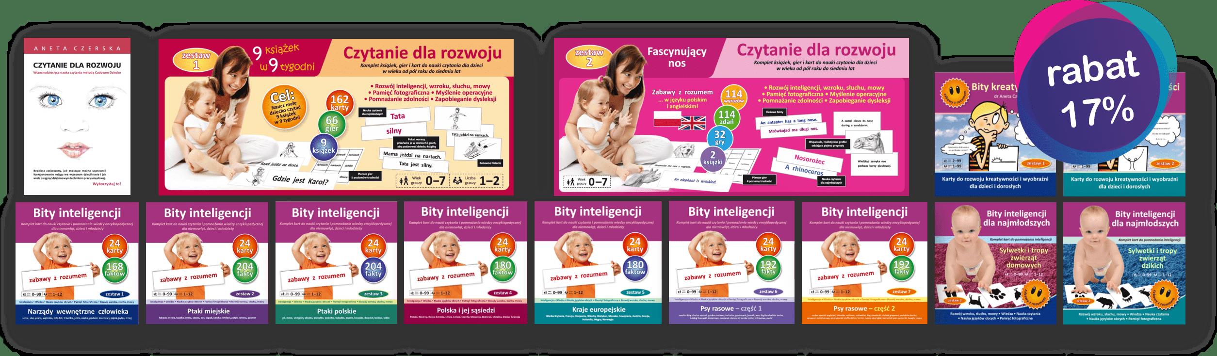 promocja zestaw donauki czytania globalnego dla małych dzieci bity inteligencji bity kreatywności książka