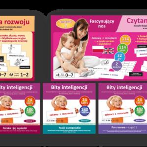 promocja zestaw donauki czytania globalnego dla małych dzieci bity inteligencji bity kreatywności