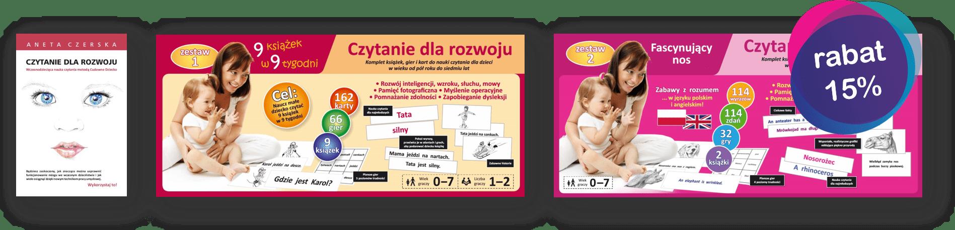 promocja zestaw donauki czytania globalnego dla małych dzieci cz 1 cz 2 książka