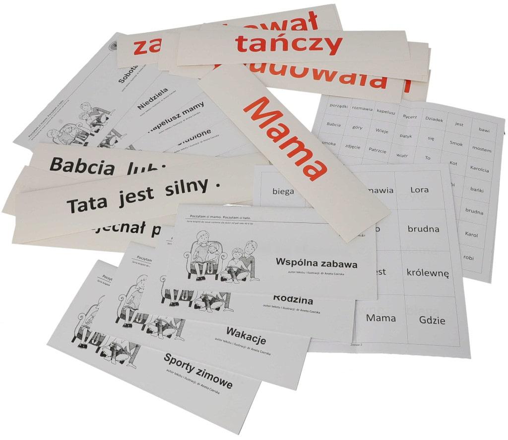 zestaw donauki czytania globalnego karty książki metoda Domana drCzerska