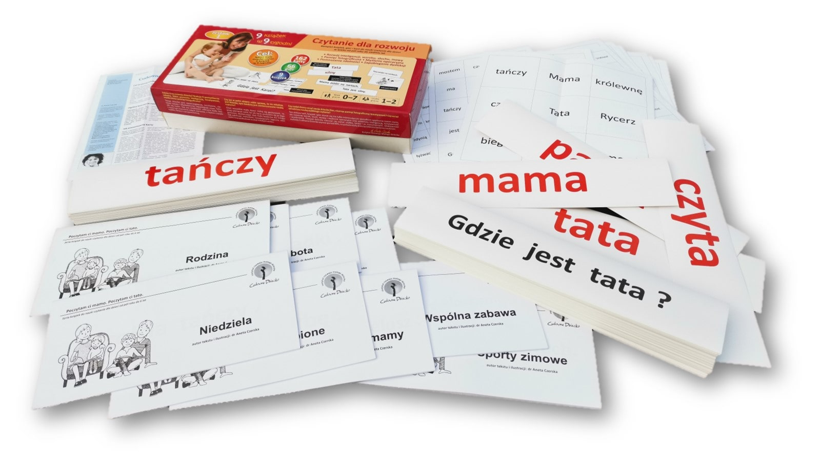 zestaw donauki czytania książki karty igry