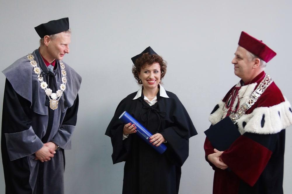Dziekan Zenon Gajdzica Dr Aneta Czerska Rektor Mirosław Nakonieczny 4.11.2014