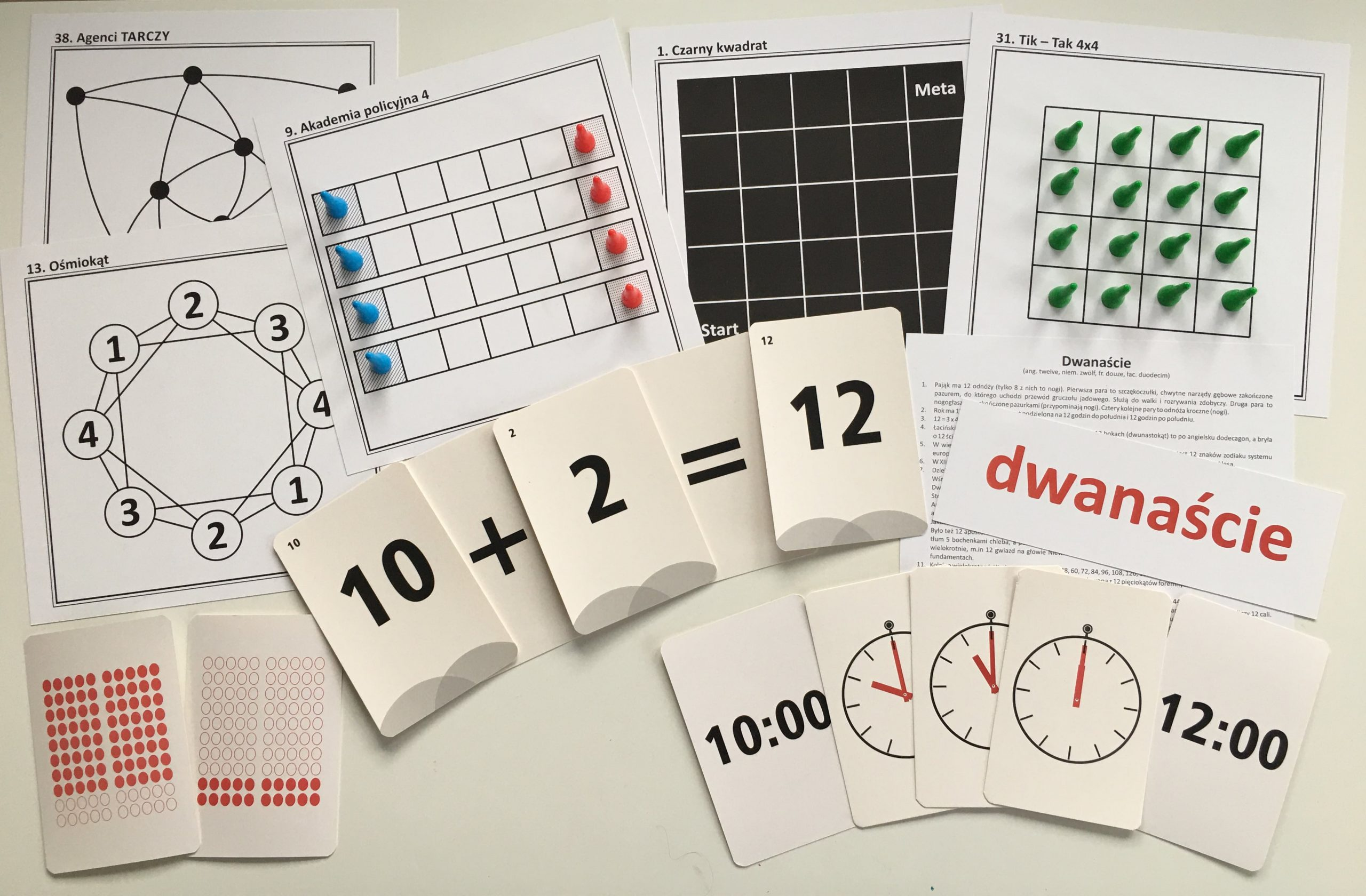Zadania matematyczne dla przedszkolaka