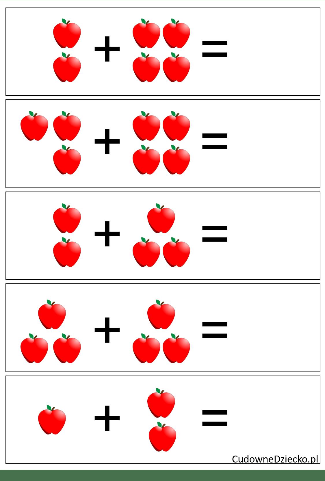 Zadania Matematyczne Dla Przedszkolaków Dziecko 5 Lat Dodawanie