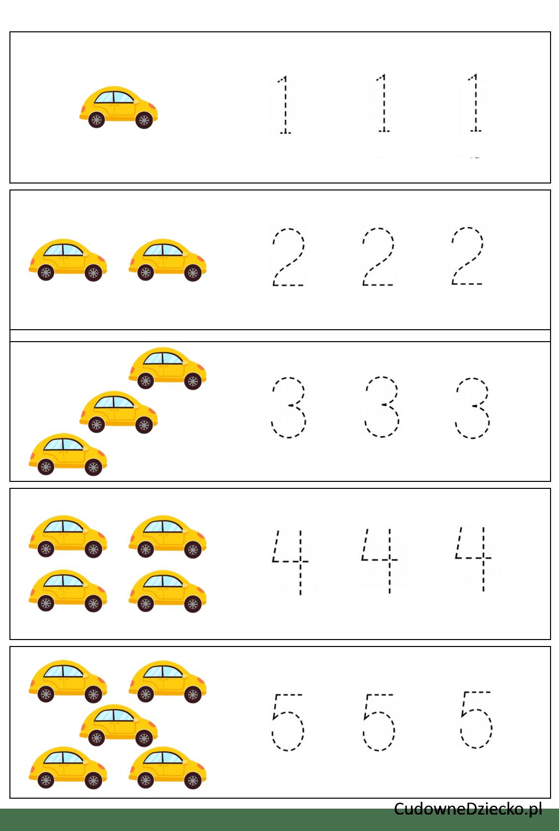 Zadania Matematyczne Dla Przedszkolaków Dziecko 5 Lat Pisanie Cyfr
