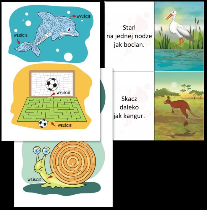 Pakiet 2 Rabat 20 proc Labirynty nauka pisania karty doćwiczeń dla dzieci gimnastyka