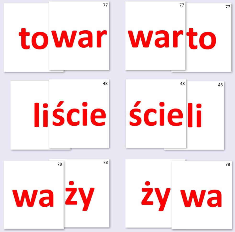 Anagramy Sylabowe Nauka Czytania Sylabami
