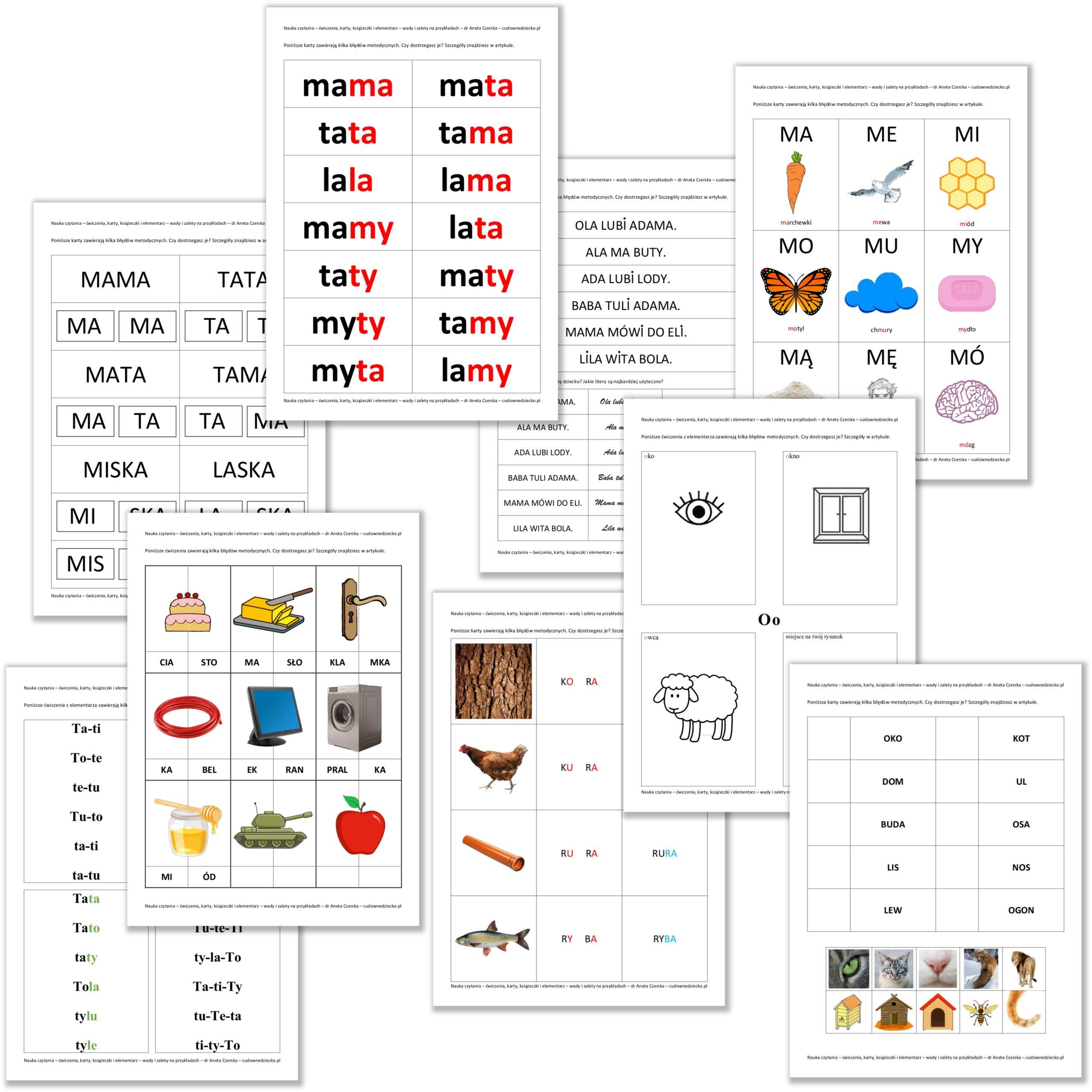 Nauka Czytania Dla Dzieci Pliki Pdf DoPobrania Druku Ćwiczenia Karty Pracy Elementarz Sylaby